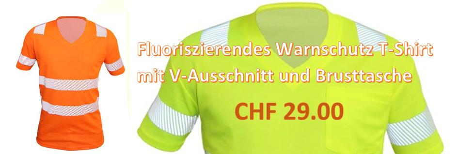 Warnschutz T-Shirt mit Elastik-Reflexstreifen